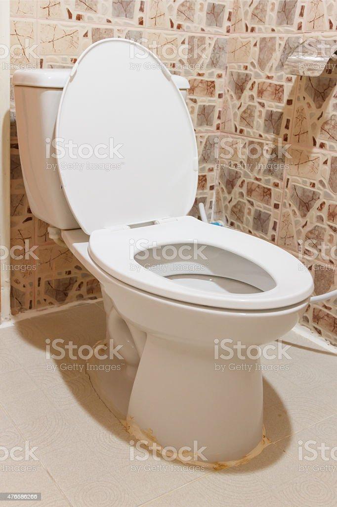 The sanitary ware white colour. stock photo
