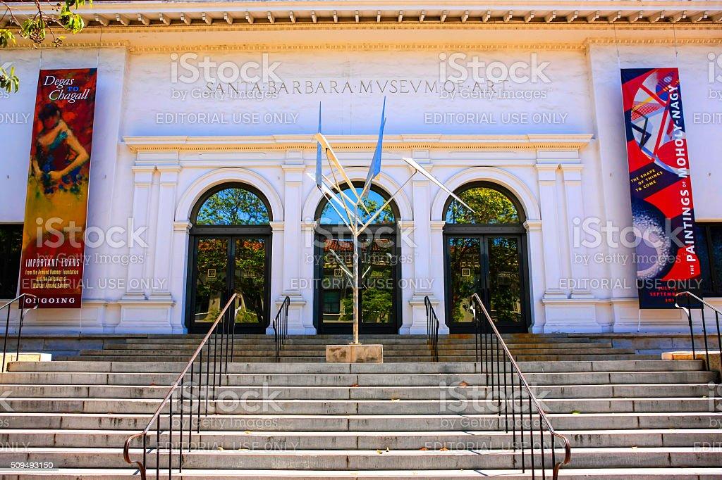 The Santa Barbara Museum of Art in Santa Barbara CA stock photo