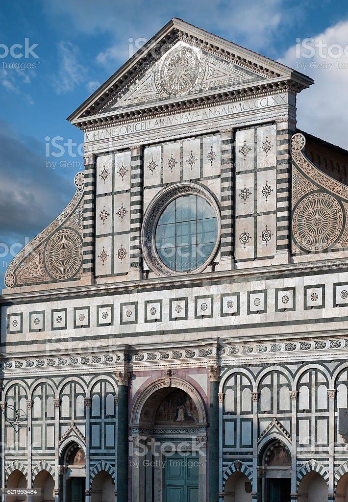 The Santa Maria Novella's facade stock photo