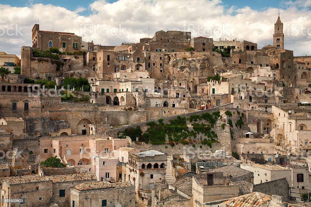 The Sassi, Matera, Italy stock photo