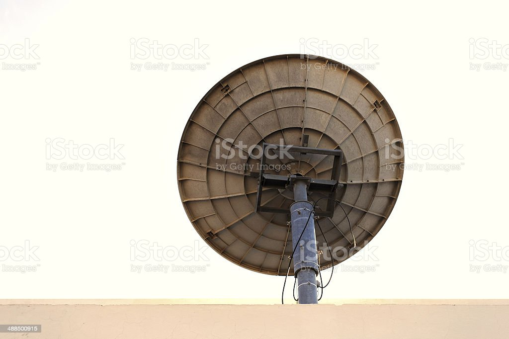 The satellite dish royalty-free stock photo