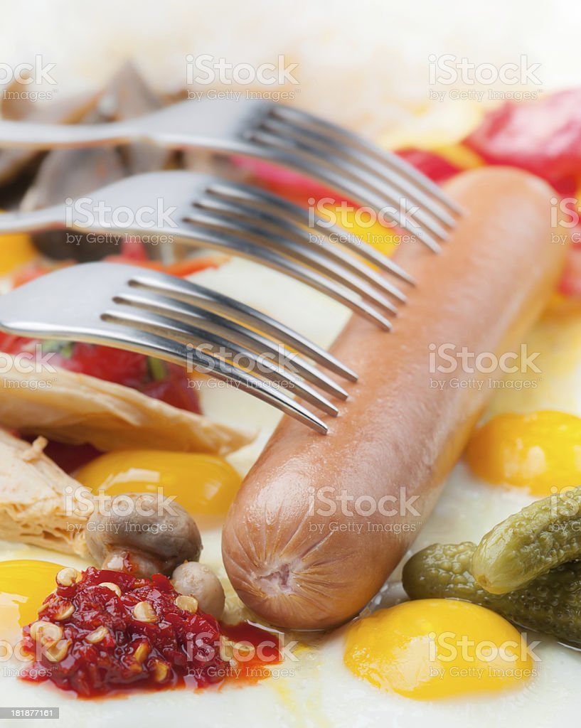 The sausage. royalty-free stock photo