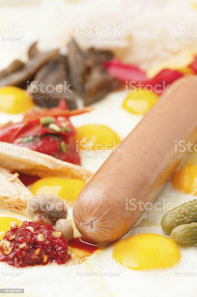 The sausage. royalty-free stock photo