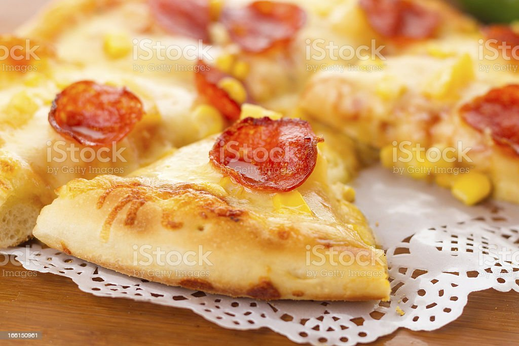 The sausage pizza royalty-free stock photo
