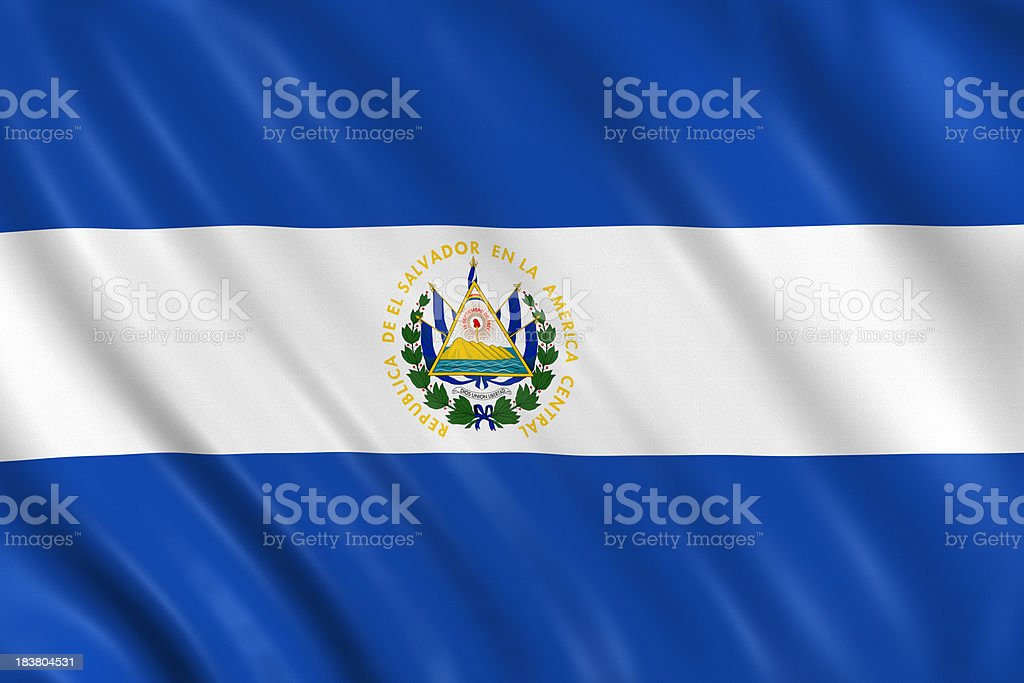 el salvador flag stock photo