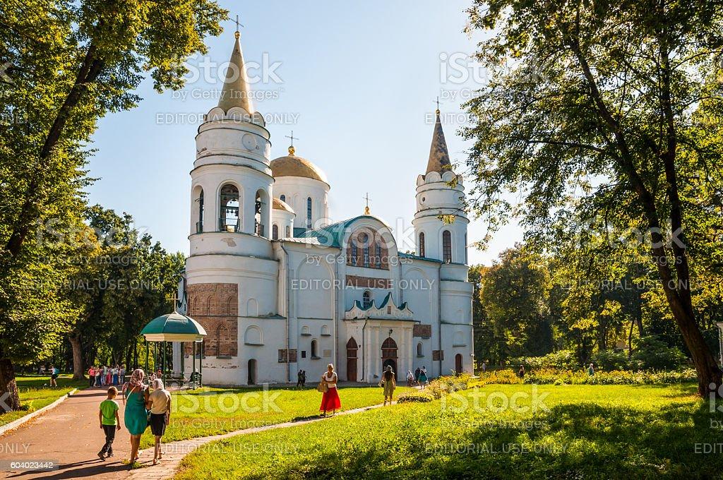 The Saviour's Transfiguration Cathedral in Chernigiv, Ukraine stock photo