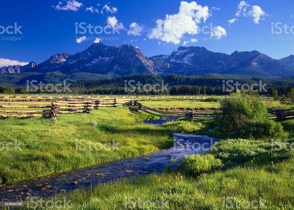 The Sawtooth Mountain Range, Stanley Idaho royalty-free stock photo