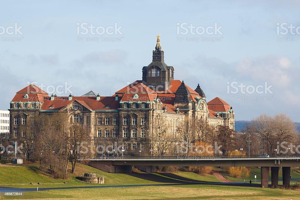 The Saxon State Chancellery stock photo