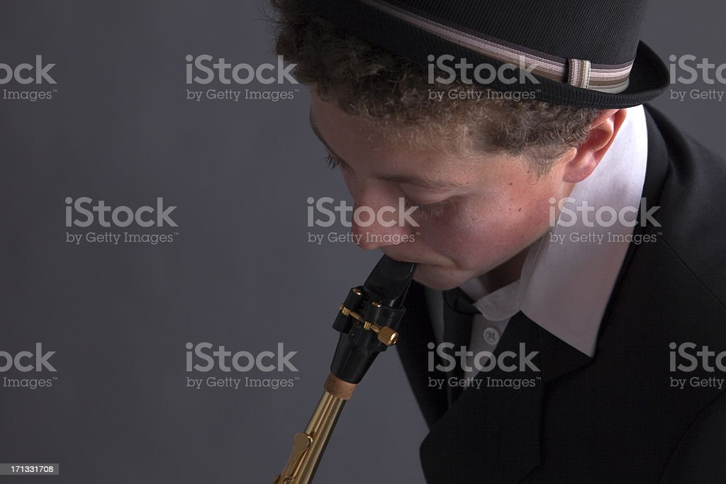 The Saxophonist stock photo