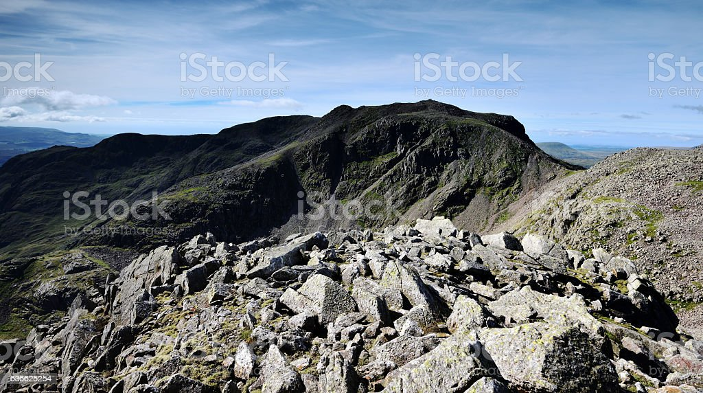 The Scafells fells stock photo