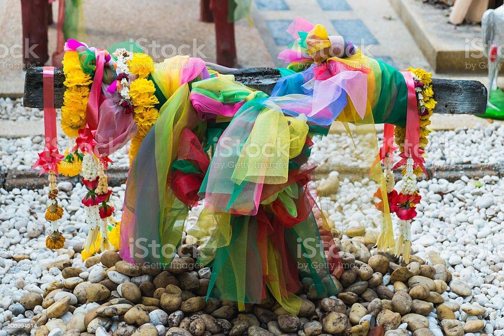 Die Leska in San Phantai Norasing. Die Multi Farbe aus Matt Lizenzfreies stock-foto