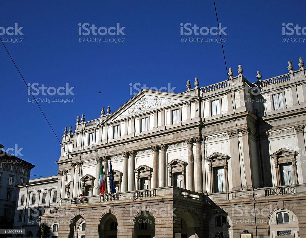The Scala theatre royalty-free stock photo