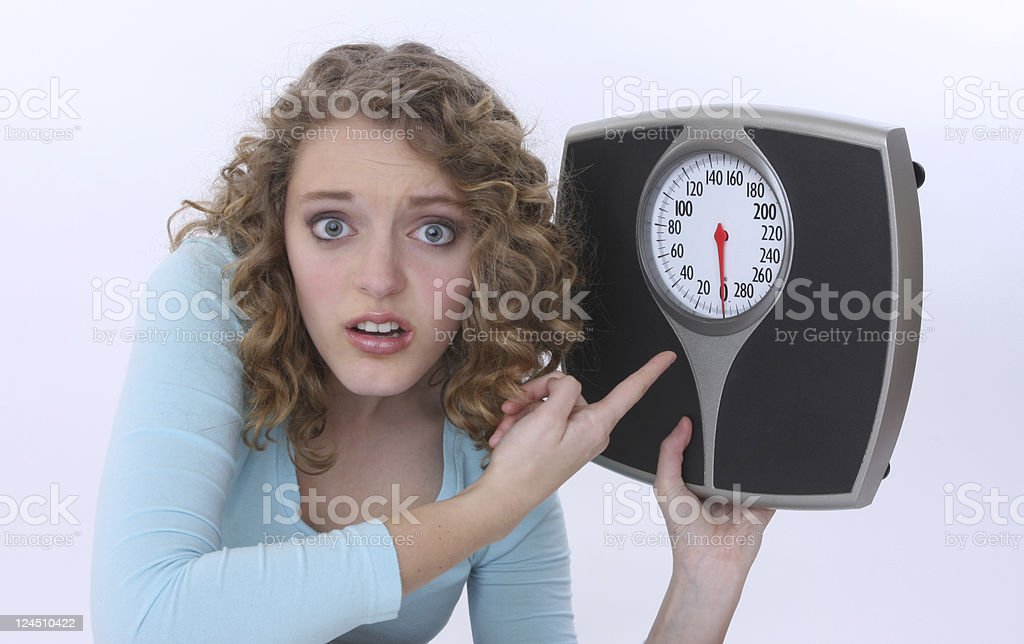 the scale must be wrong! stock photo