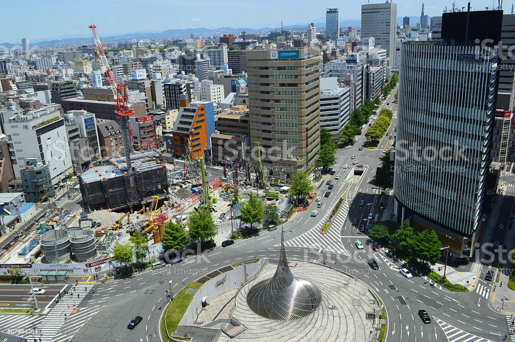 The scenery of Nagoya stock photo
