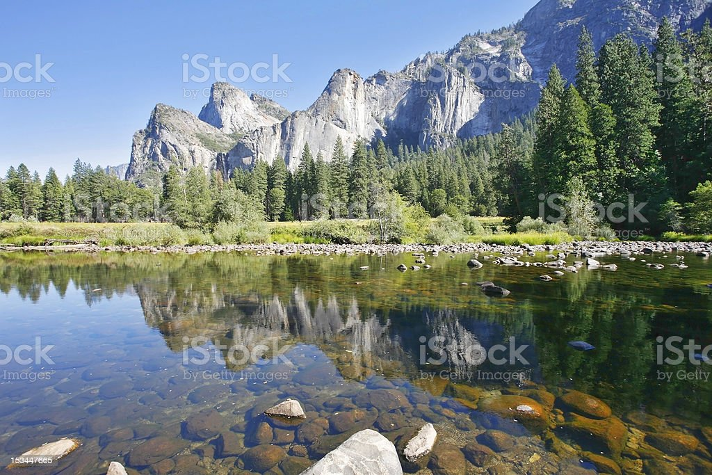 The scenic rocky peaks royalty-free stock photo