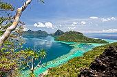 The scenic view of the Tun Sakaran Marine Park
