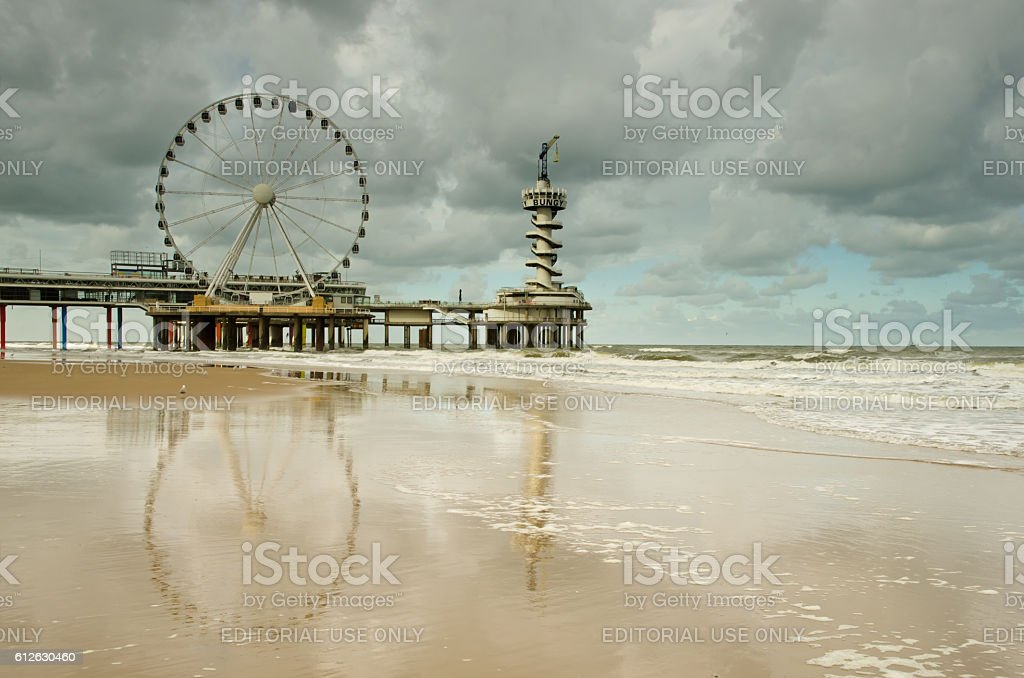 The Scheveningen pier stock photo