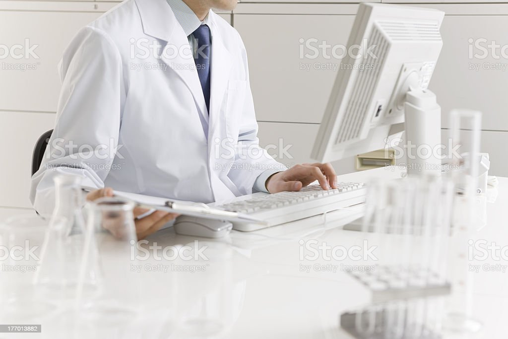 The scientist who studies it stock photo