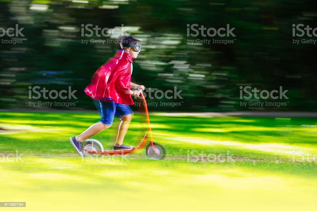 The scooter hero stock photo