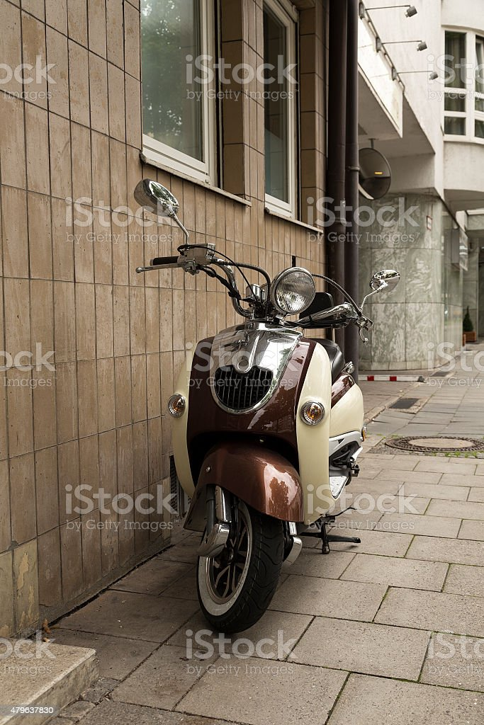 The scooter royalty-free stock photo