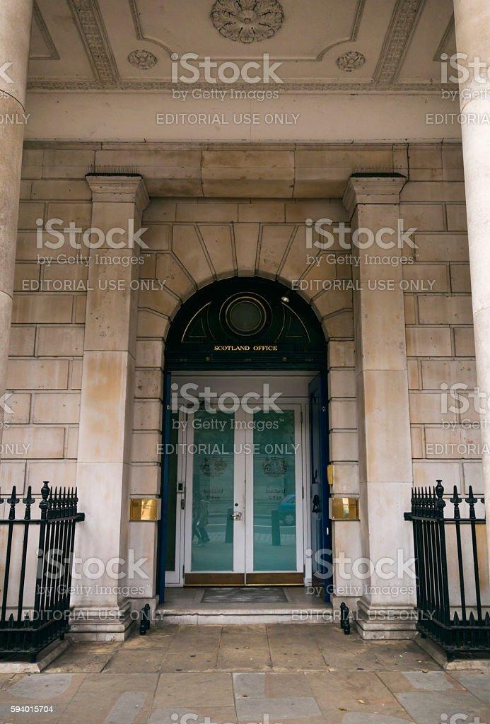 The Scotland Office, London stock photo