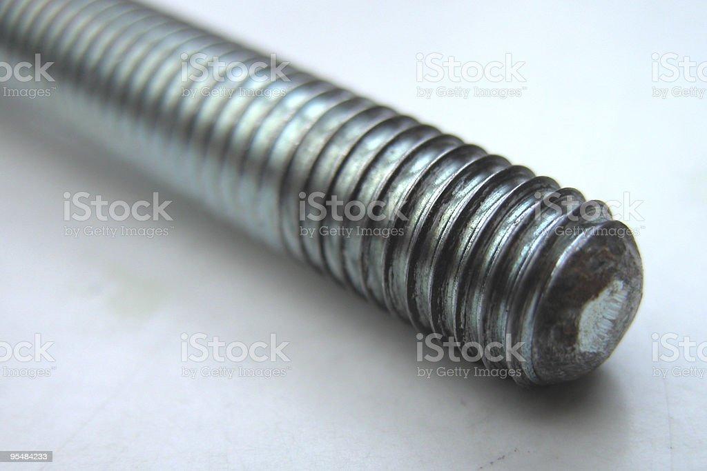 The screw royalty-free stock photo