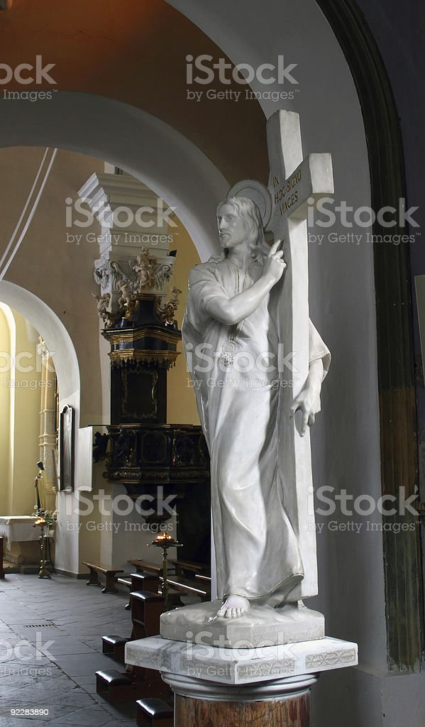 The sculpture of Jesus Christ royalty-free stock photo