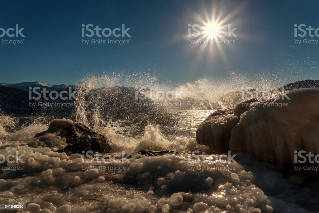 The Sea and Ice stock photo