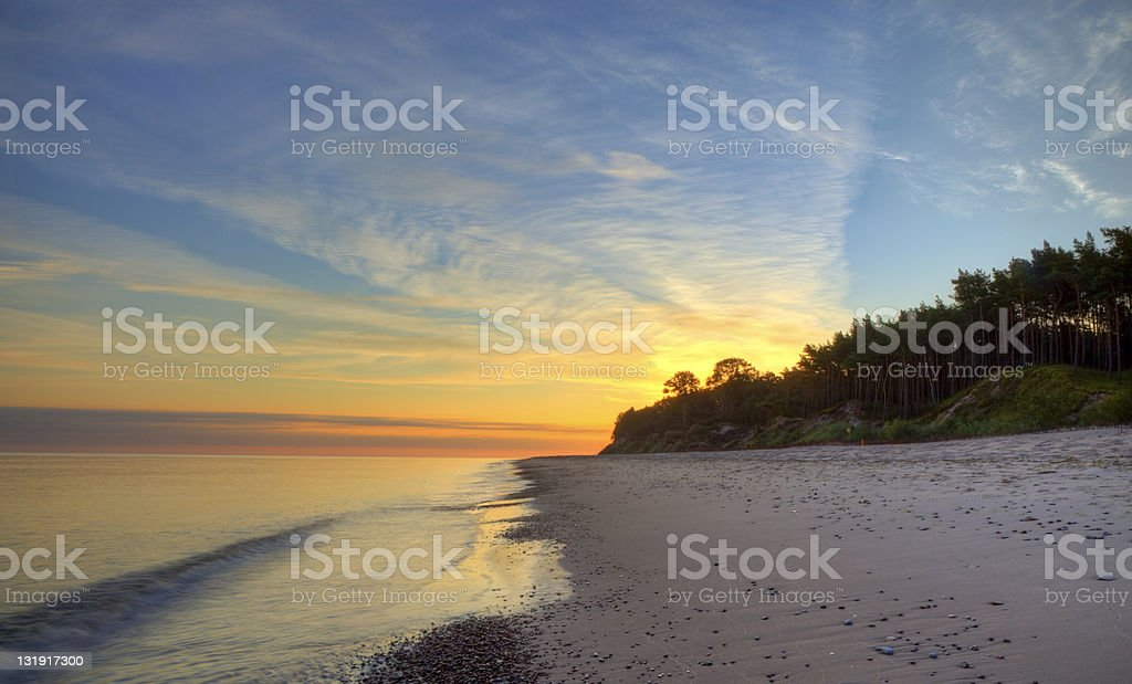 The Sea at Dawn royalty-free stock photo