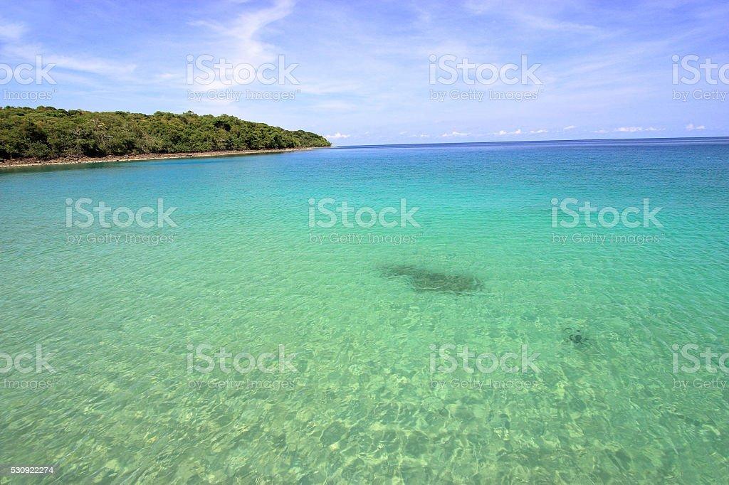 The sea at Koh Kood island in Trat, stock photo