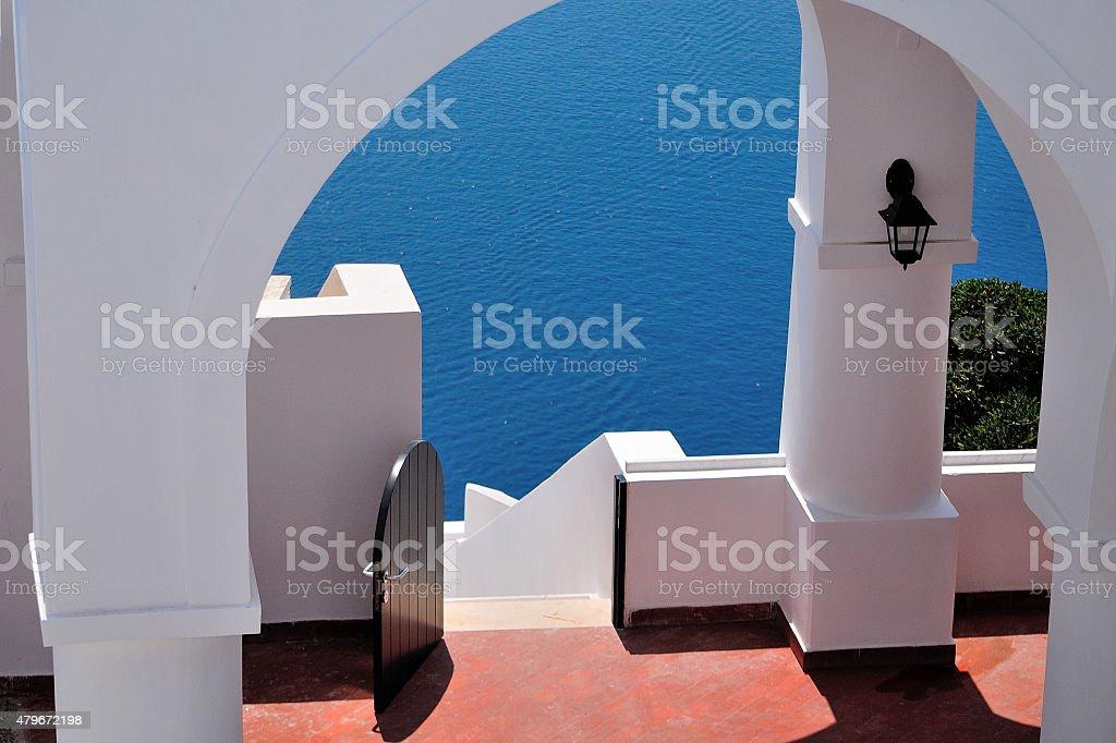 La porte de la mer. photo libre de droits