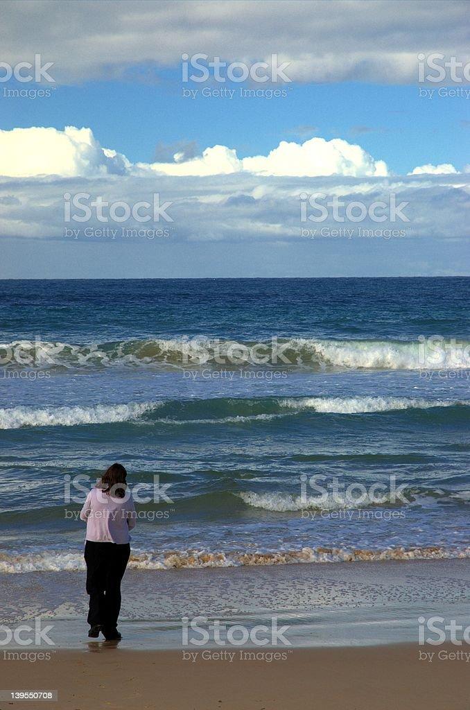 The sea, it calls me royalty-free stock photo