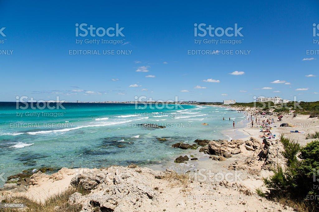 The sea near Gallipoli stock photo