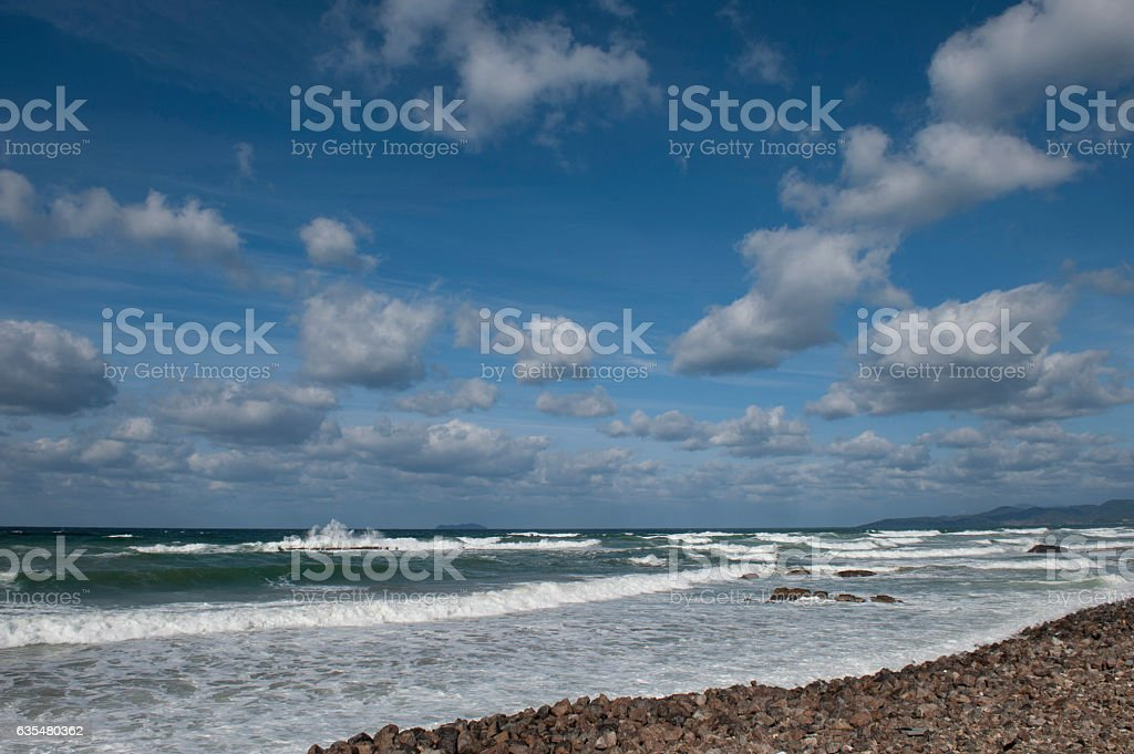 The Sea of Japan in winter stock photo
