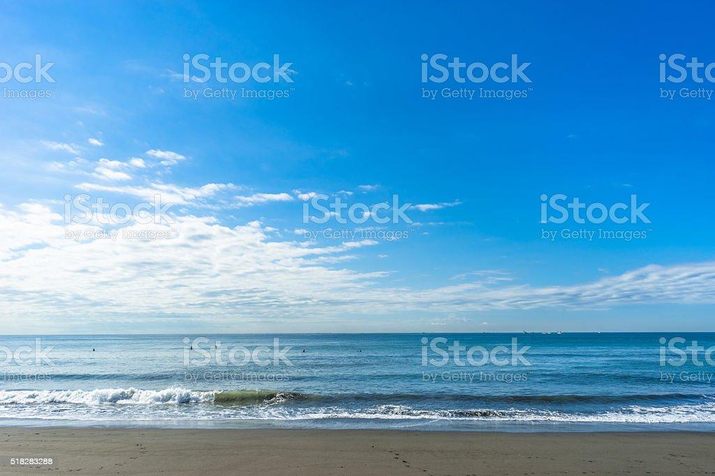 The sea of Shonan stock photo