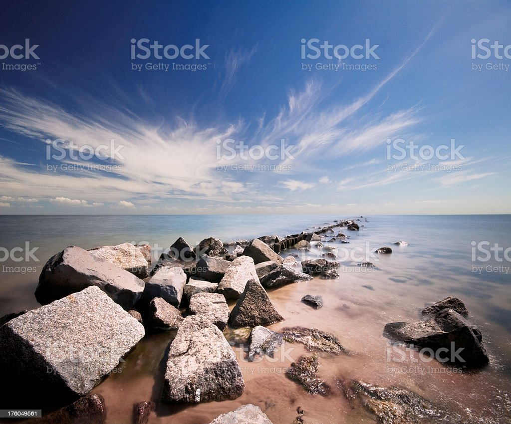The sea royalty-free stock photo