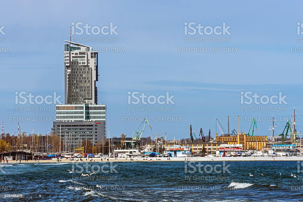 The Sea Towers stock photo