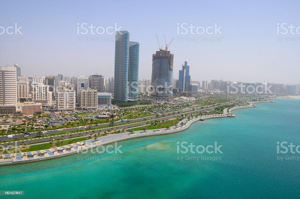 The seaside city of Corniche Abu Dhabi  royalty-free stock photo