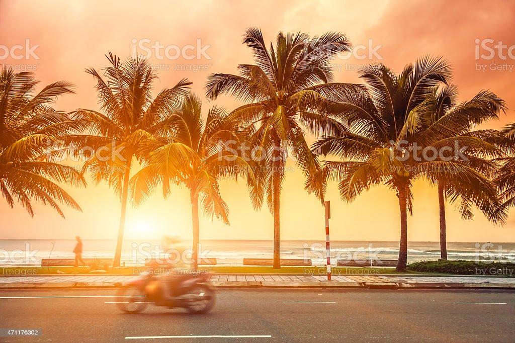 The seaside highway stock photo