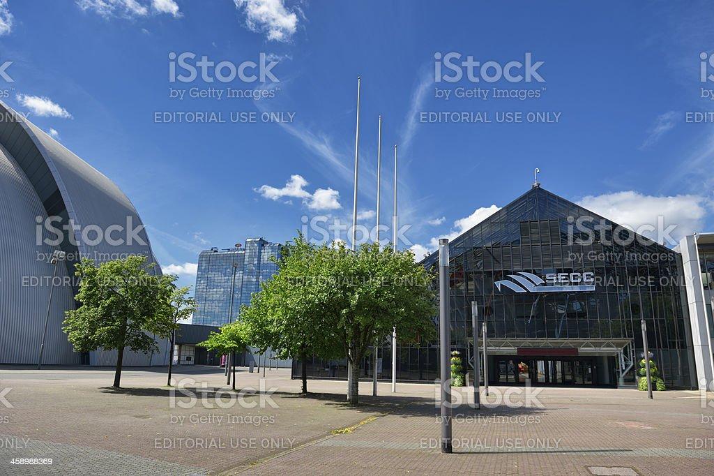 The SECC Glasgow stock photo