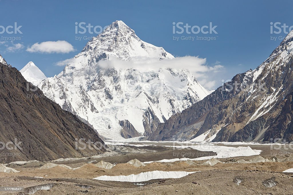 K2, the second highest mountain on Earth stock photo