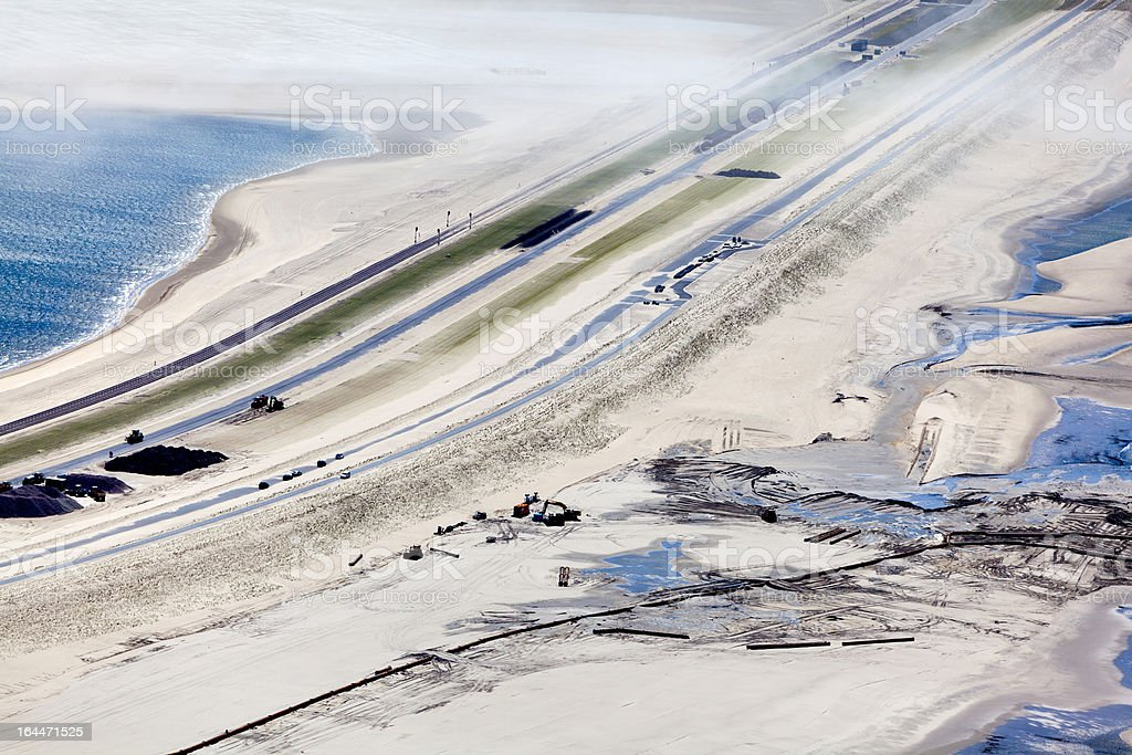 The second maasvlakte aerial stock photo
