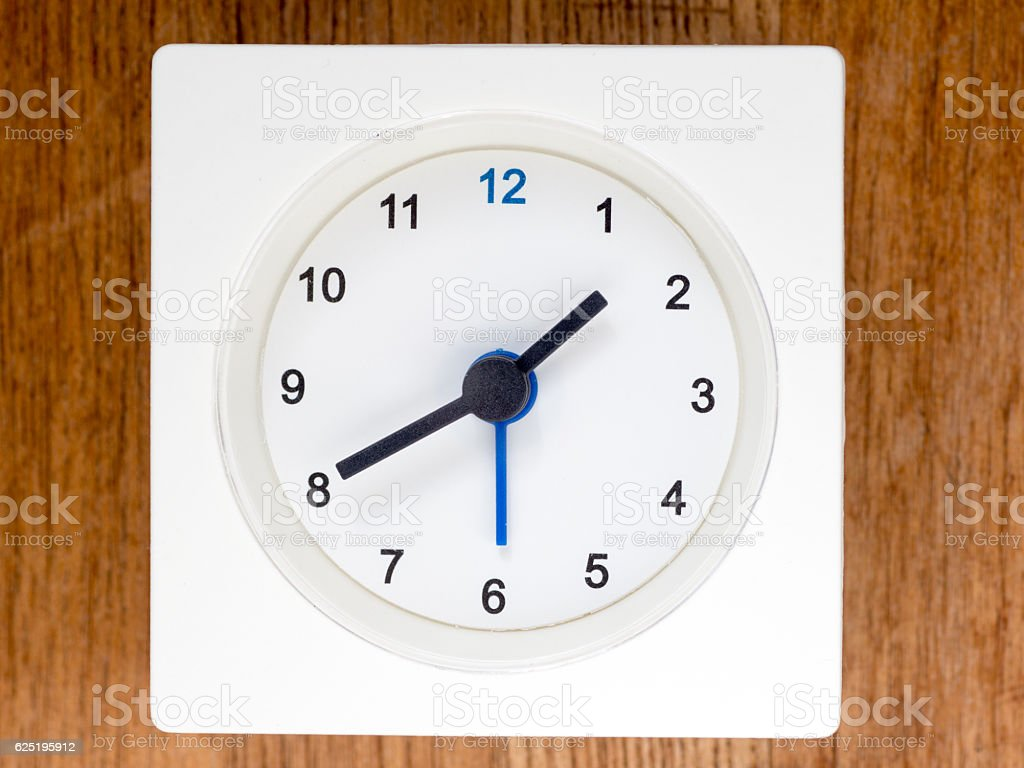 The second series of the sequence of time, 14/96 stock photo