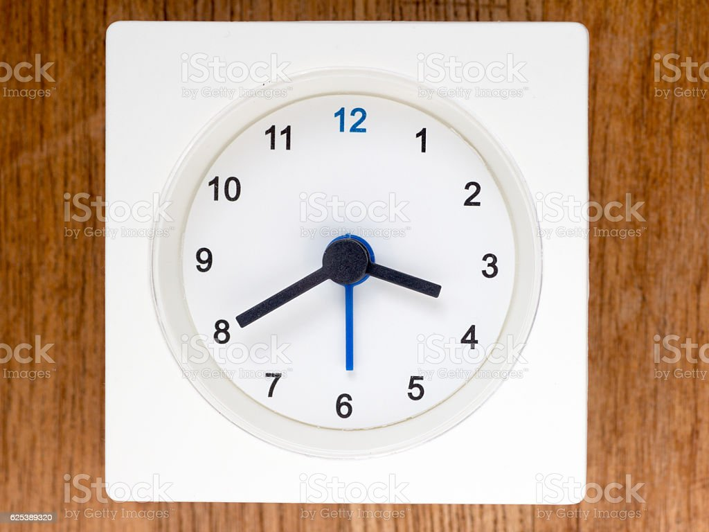 The second series of the sequence of time, 30/96 stock photo