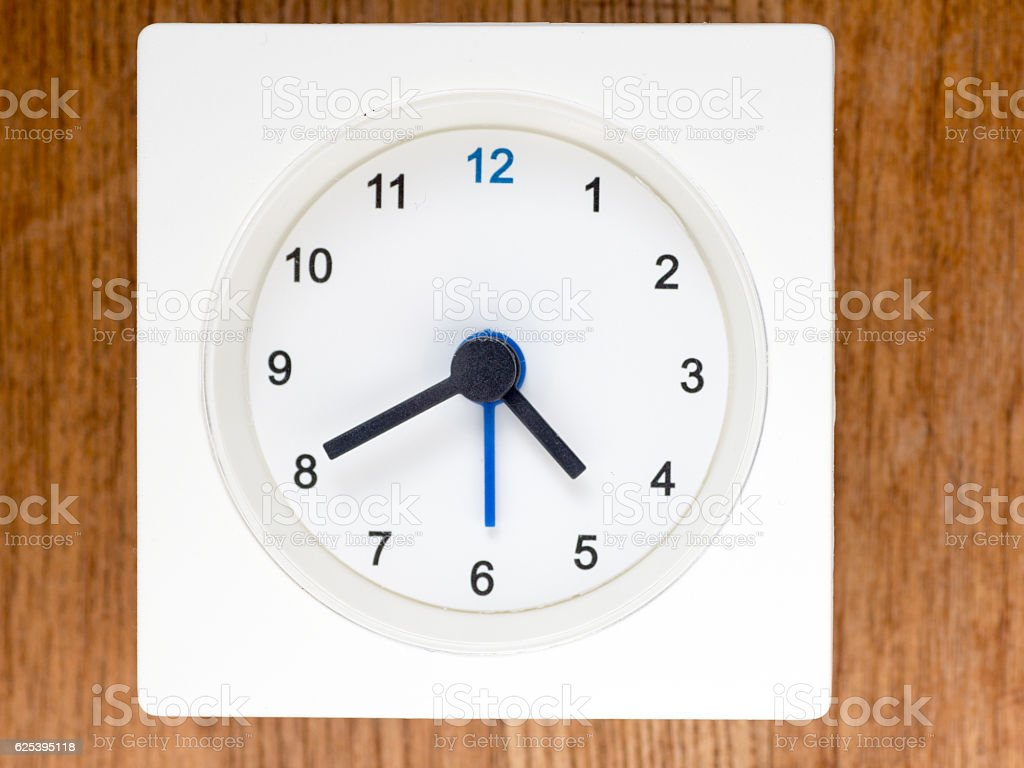 The second series of the sequence of time, 38/96 stock photo