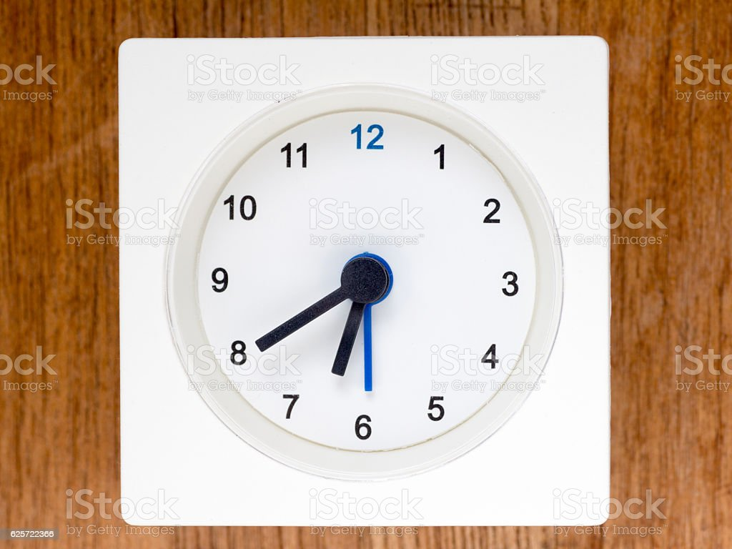 The second series of the sequence of time, 54/96 stock photo