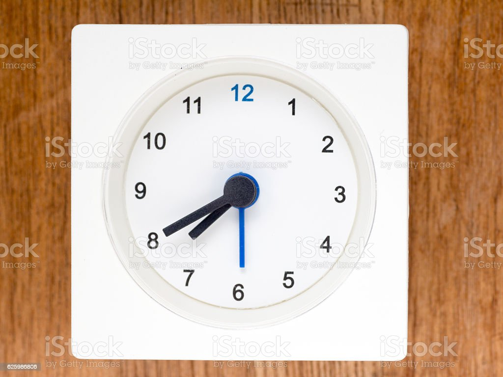 The second series of the sequence of time, 62/96 stock photo