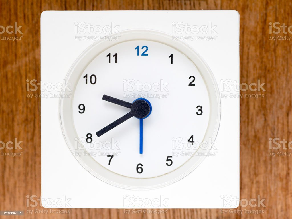 The second series of the sequence of time, 78/96 stock photo