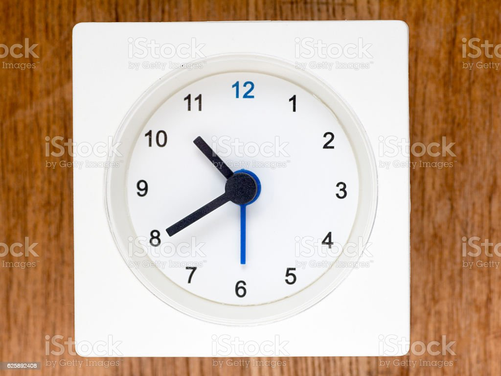 The second series of the sequence of time, 86/96 stock photo