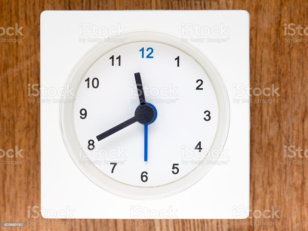 The second series of the sequence of time, 94/96 stock photo